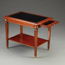 leather top side table jans2en furniture products product details