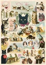 cavallini poster cats collage feline poster cavallini co 20 x 28 wrap