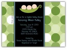 mod baby shower triplets baby shower