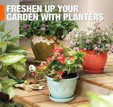Discount Outdoor Planters by Outdoor Planters U0026 Garden Pots At The Home Depot