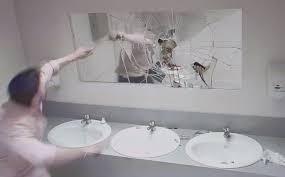 Bathroom Mirror Prank Terrifying Anti Driving Caign In Aka The
