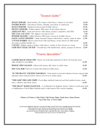 resume a format red tail tavern menu tavern menu 2015 2