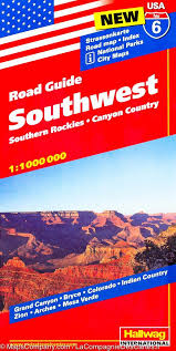 map usa southwest usa 6 road guide southwest southern rockies country