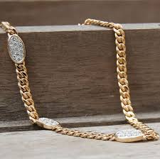 gold necklace vintage images Vintage bulgari inspired thick gold necklace with diamond oval jpg
