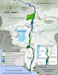 Garden State Parkway Map by Ventura River Ecosystem Ventura River Parkway