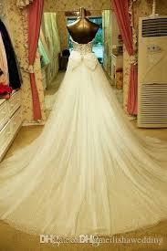 2016 2 piece high low swarovski wedding dresses sparkly