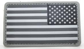 Black And White Us Flag U S Flag Reverse Mil Spec Monkey Patch Pvc Black