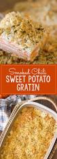 sweet potato thanksgiving side dish smoked chili sweet potato gratin lovely little kitchen