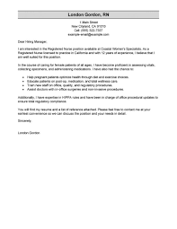 resume cover letter exles for nurses best registered cover letter exles livecareer