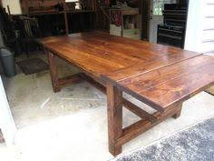 How To Build A Dining Room Table Plans by Directions For Farmhouse Table With Legs In The Center Rather Than