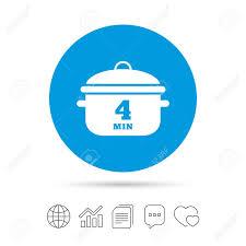 icone cuisine bouillir 4 minutes icône de signe de casserole de cuisine