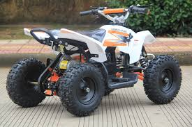 sahara 24v 350w electric quad battery powered mini atv white