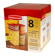 rubbermaid 8 piece modular canister set walmart canada