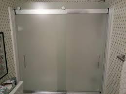 kohler bathtub glass doors frosted sliding shower doors shower