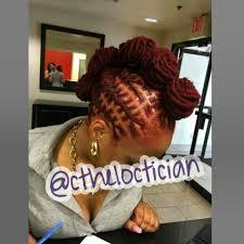 loc bun loc mohawk locs locs with color ombre wedding hair