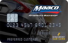 maaco credit card u0026 interest free financing maaco