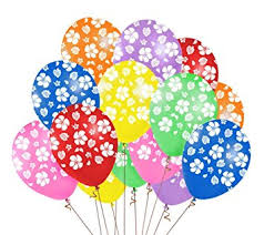48pcs hawaiian luau tropical balloons birthday