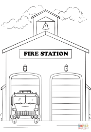 fire station coloring page free printable coloring pages