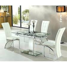 Glass Dining Table For 6 Extendable Glass Dining Table And 6 Chairs