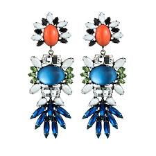 dannijo earrings j crew jeweled fan drop earrings rank style