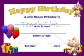 happy birthday certificate templates happy birthday gift