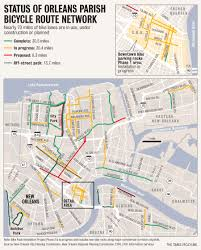 French Quarter Map New Orleans by Biking In New Orleans Might Be Less Of An Uphill Battle These Days
