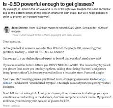 quora how long does it take to get used to new glasses