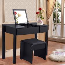 Bedroom Furniture Set With Vanity Black White Vanity Makeup Dressing Table Set With Cell Storage