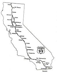 california map in us tour of us 99 southern california regional rocks and roads