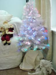 white christmas tree with multicolor lights amazon com 32 white color changing fiber optic artificial