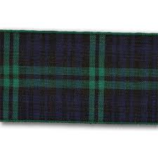 black watch 70mm scottish tartan plaid ribbon x 25m reel ribbon