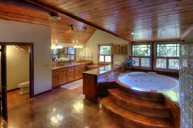 26 beautiful wood master bathroom designs