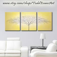Home Decor Tree by Wall Art Canvas Art 3 Piece Painting Original Painting Wall