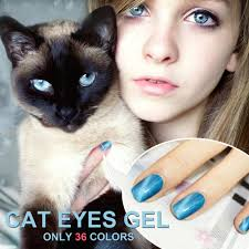 gel len magnetic 3d cat eyes gel nail polish dark red color uv