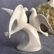dove cake topper porcelain doves wedding cake topper figurine cake toppers