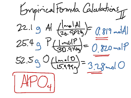 empirical formula calculations part 2 chemistry science moles