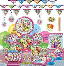 shopkins ultimate birthday supplies decoration bundle 8 guest