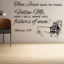 Religious Wall Decor Matthew 4 19 Religious Wall Decor Divine Walls