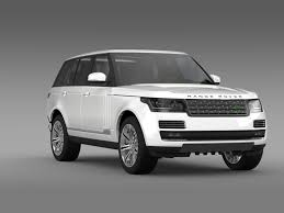 land rover white 2014 range rover autobiography black l405 2014 by creator 3d 3docean