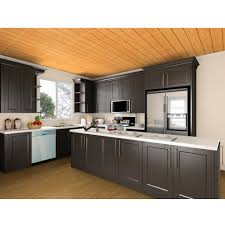black shaker style kitchen cabinets china black shaker style ready made solid wood kitchen