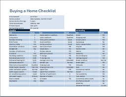 Home Inspection Template Excel Buying A Home Checklist Template Word Excel Templates