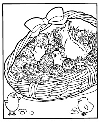 coloring pages for adults easter easter basket coloring pages getcoloringpages com