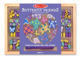 amazon com melissa u0026 doug butterfly friends wooden bead set with
