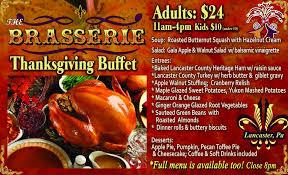 brasserie lancaster pa thanksgiving menu