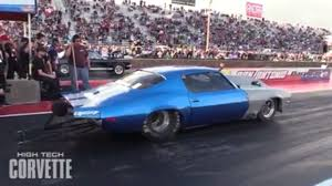 turbo c5 corvette this drag race between a modified hellcat and a turbo