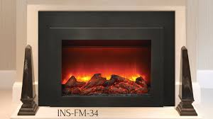 Electric Insert Fireplace Ins Fm 34 Electric Insert Sierra Flame