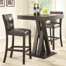 pub height table and chairs coaster furniture 100520 100056 3 pc bar pub height set