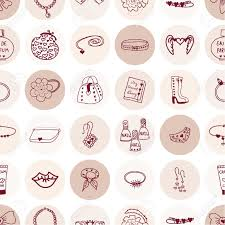girl accessories seamless pattern pink girl accessories royalty free cliparts
