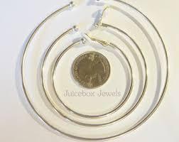 hoop clip on earrings clip on hoop earring etsy