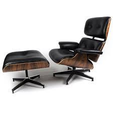 Lounge Chair Ottoman Kardiel Eames Style Plywood Lounge Chair Ottoman Black Aniline